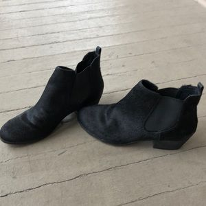 Vince Camuto Calf Hair Black Ankle Booties